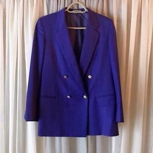 Vintage Burberry Suit Jacket with Skirt